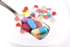 Cucchiaio di medicina Immagini Stock Libere da Diritti