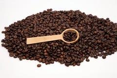 Cucchiaio e caffè 1 Fotografia Stock Libera da Diritti