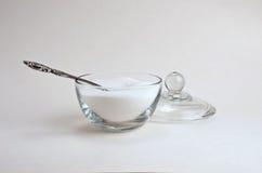Cucchiaio e ciotola surgar Fotografie Stock Libere da Diritti