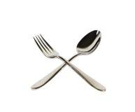 Cucchiaio e forchetta immagine stock libera da diritti