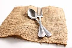 Cucchiaio e forchetta Immagini Stock Libere da Diritti