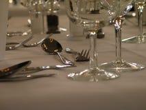 Cucchiaio e forchetta Immagine Stock