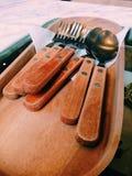 Cucchiaio e forchetta Fotografie Stock Libere da Diritti