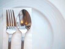 Cucchiaio e forchetta Immagini Stock