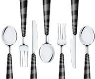 Cucchiaio e lama della forcella Fotografie Stock