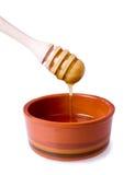 Cucchiaio e miele Fotografia Stock Libera da Diritti