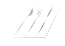 Cucchiaio, forcella, coltello immagine stock