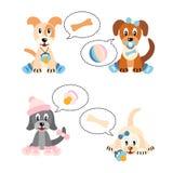 Cuccioli appena nati - illustrazione su priorità bassa bianca Immagini Stock