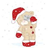 Cuccioli di orso svegli che sono stati disegnati a mano Vettore sveglio degli orsacchiotti Natale del nuovo anno Fotografie Stock Libere da Diritti