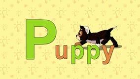 Cucciolo Alfabeto inglese dello ZOO - lettera P illustrazione di stock