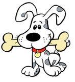 Cucciolo con l'osso Fotografie Stock
