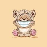Cucciolo del leopardo con il sorriso enorme Fotografia Stock