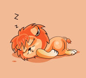 Cucciolo di leone addormentato Fotografia Stock Libera da Diritti