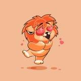 Cucciolo di leone nell'amore Immagine Stock Libera da Diritti