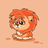 Cucciolo di leone triste Fotografia Stock