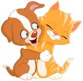 Cucciolo e gattino Immagini Stock Libere da Diritti