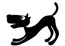 Cucciolo nero illustrazione di stock