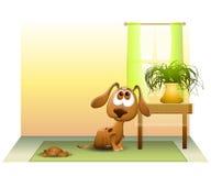 Cucciolo Pooped sul pavimento illustrazione vettoriale