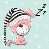 Cucciolo sveglio di sonno Fotografia Stock Libera da Diritti