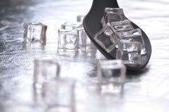 Cuchara con hielo Fotos de archivo libres de regalías