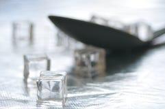 Cuchara con hielo Imagen de archivo
