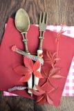 cuchara con la bifurcación Fotografía de archivo