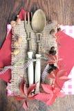 cuchara con la bifurcación Imagen de archivo
