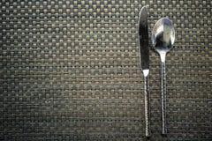 Cuchara, cuchillo Fotografía de archivo