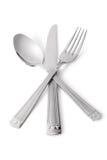 Cuchara, cuchillo, fork Foto de archivo