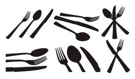 Cuchara, cuchillo, fork ilustración del vector