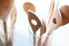 Cuchara de madera Imágenes de archivo libres de regalías