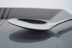 Cuchara de plata Fotografía de archivo