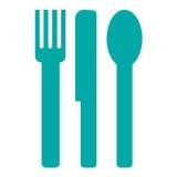 Cuchara y cuchillo de la fork Imagen de archivo libre de regalías