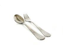 Cuchara y fork Imagenes de archivo