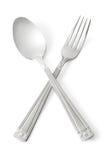 Cuchara y fork imagen de archivo