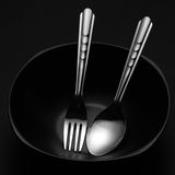 Cuchara y fork Foto de archivo libre de regalías