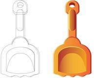 Cucharada anaranjada ilustración del vector