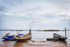 Cucharada de la pesca fotografía de archivo libre de regalías
