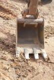 Cucharada de la retroexcavadora Imagenes de archivo