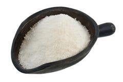 Cucharada del polvo blanco (dulcificante) Foto de archivo libre de regalías