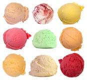 Cucharadas del helado Fotografía de archivo libre de regalías