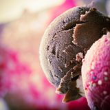 Cucharadas del helado Imagen de archivo