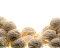 Cucharadas del helado de vainilla Foto de archivo libre de regalías