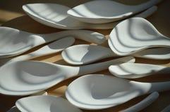 Cucharas de cerámica Imagen de archivo libre de regalías