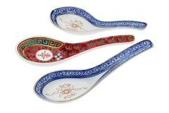 Cucharas de cerámica chinas Fotos de archivo libres de regalías