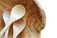 Cucharas de madera Imagen de archivo