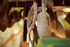 Cucharas de madera Imagen de archivo libre de regalías