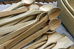Cucharas de madera Fotografía de archivo libre de regalías