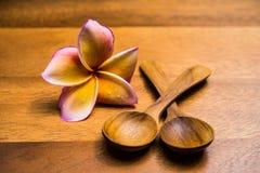 Cucharas de madera Foto de archivo
