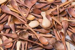 Cucharas de madera Fotografía de archivo